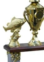 2 Tier 2 Column Tower Fishing Angling Trophy Personalised | County Engraving