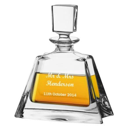 24% Lead Crystal Whisky Decanter Personalised