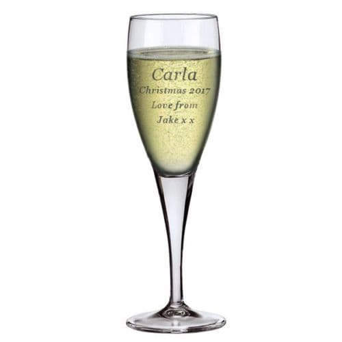 6oz Champagne Flute  Personalised For Christmas