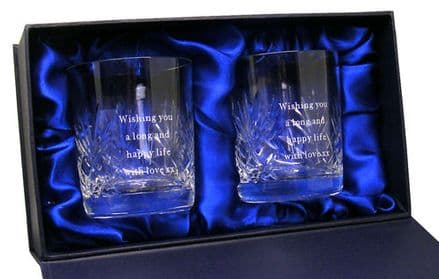 8oz Crystal Whisky Glasses Personalised