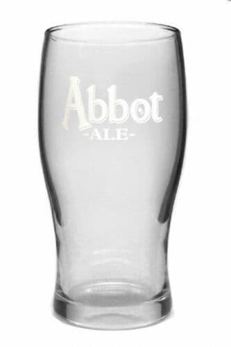 Abbot Ale Beer Pint Glass Personalised