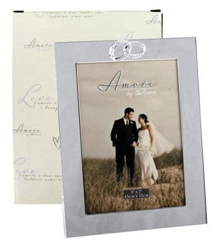 Amore Entwined Rings Photo Frames Personalised