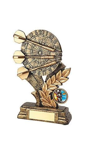 Antique Gold Resin Darts Trophy Personalised