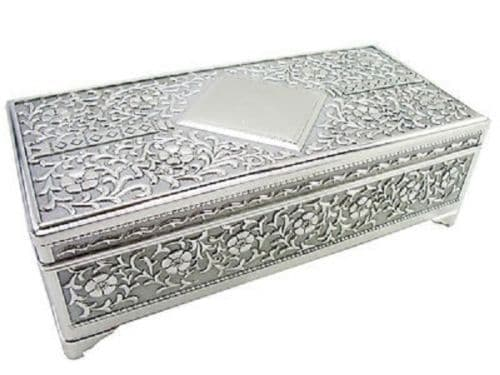 Antique Silver Trinket Box Personalised