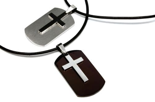 Army Dog Tag & Cross Pendant Personalised