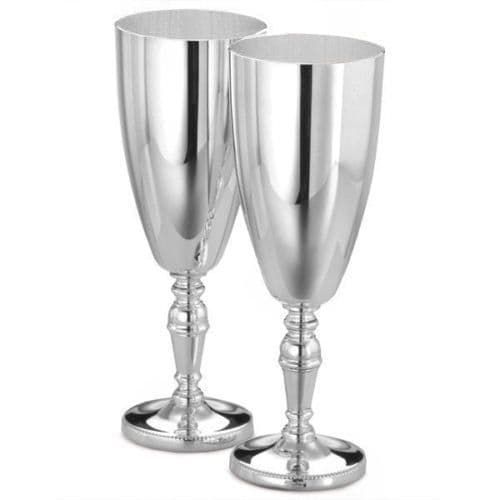Arthur Price Silver Plated Champagne Goblets Personalised