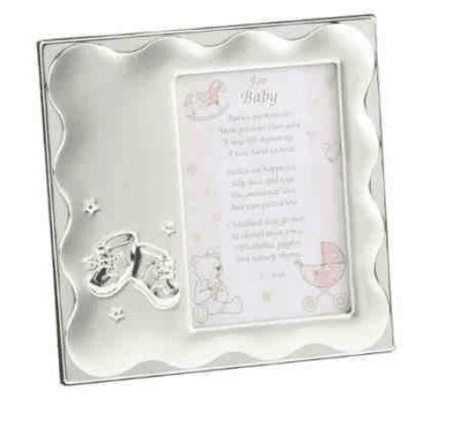 Baby Girl Bootie Frame Personalised