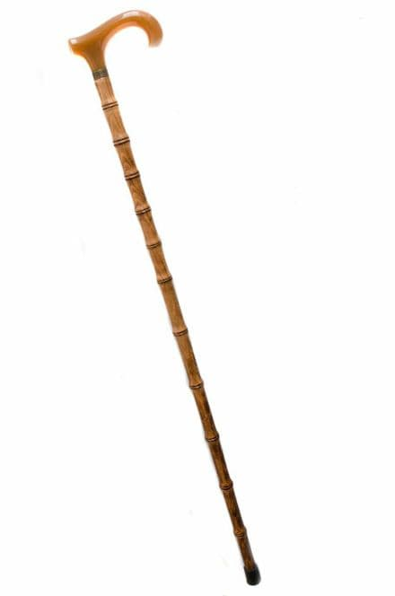 Bamboo Style, Derby Handle Walking Stick Personalised