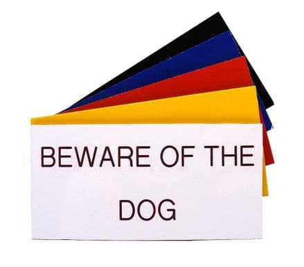 BEWARE OF THE DOG Sign 100 x 50mm