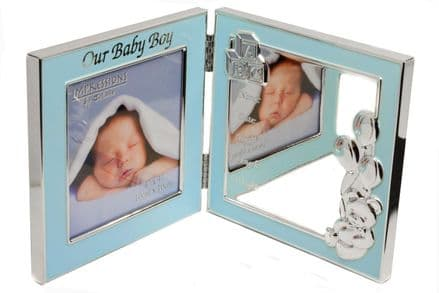 Blue Baby Birth Data Photo Frame Personalised