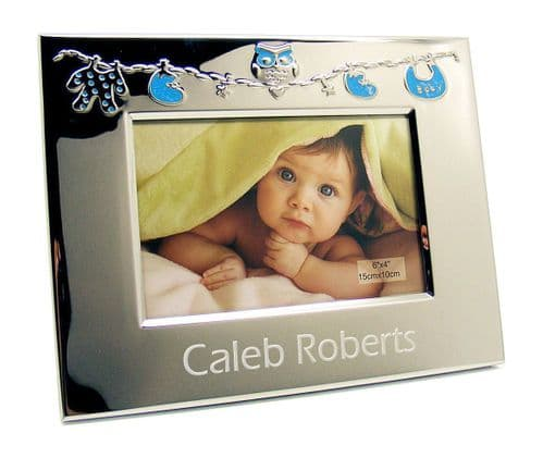 Blue Owl Baby Frame Personalised