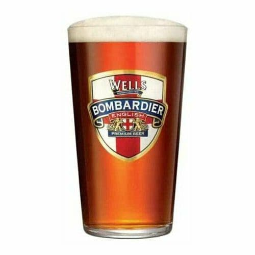 Bombardier 1 Pint Glass Personalised