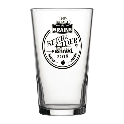 Brains Ale One Pint Glass Personalised | County Engraving