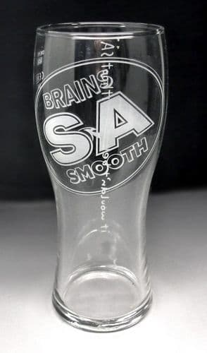 Brains SA Smooth Ale Pint Glass Personalised