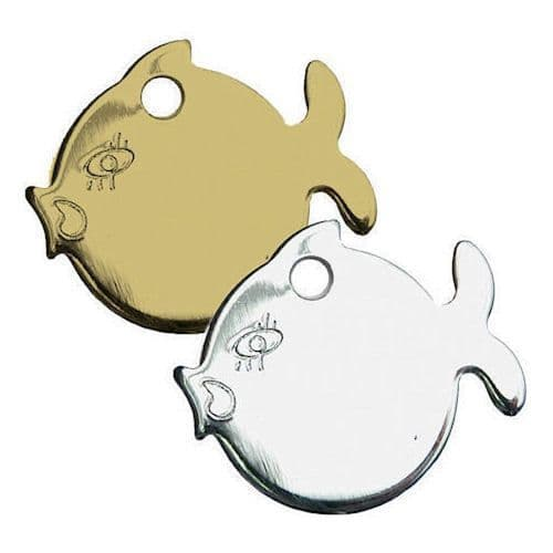 Brass and Chrome Fish Tag