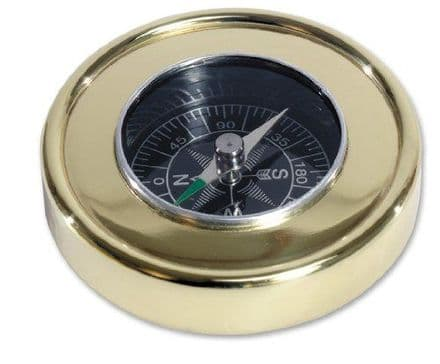 Brass Compass With Wooden Display Box Personalised