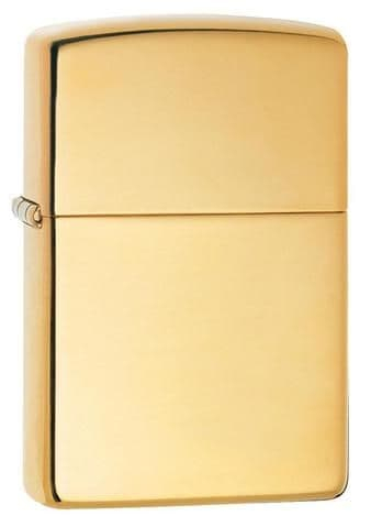 Brass Highly Polished Zippo Lighter Personalised