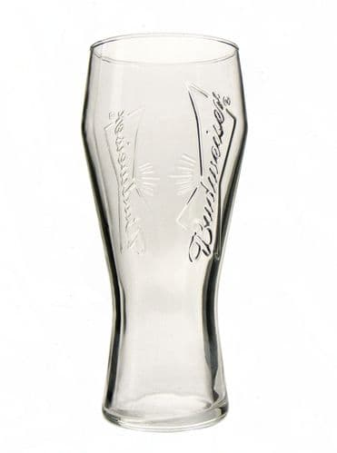 Budweiser Embossed Bow Tie 1 Pint Glass Personalised