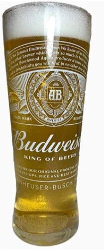 Budweiser Glass Personalised