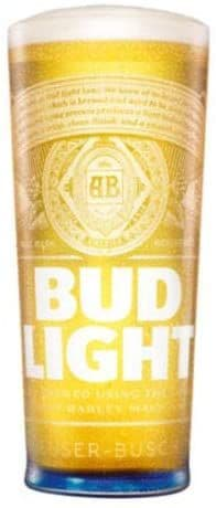 Budweiser Light Pint Glass Personalised