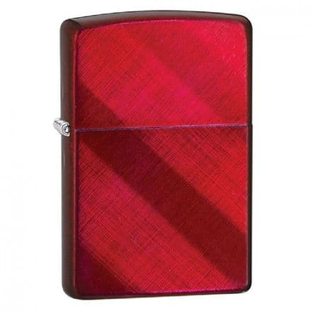 Candy Apple Diagonal Weave Zippo Lighter Personalised