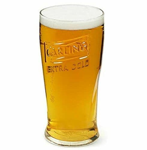 Carling Extra Cold Lager Glass Personalised