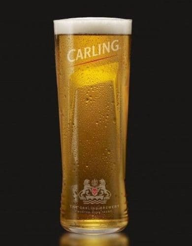 Carling Glass Personalised