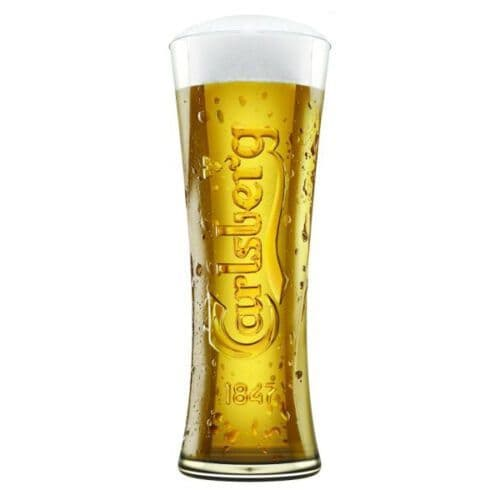 Carlsberg Lager Glass Personalised | County Engraving