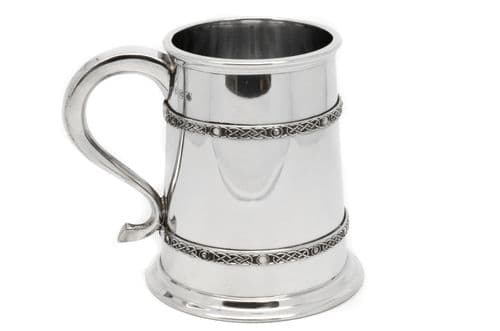 Celtic Band Pewter Tankard Personalised