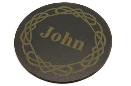 Celtic Knot Slate Coaster Personalised