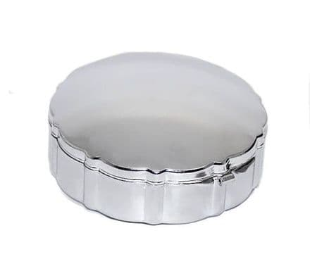 Chrome 3 Compartment Pill Box Personalised
