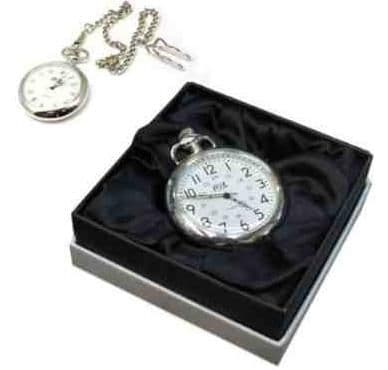 Chrome Open Face Pocket Watch Personalised