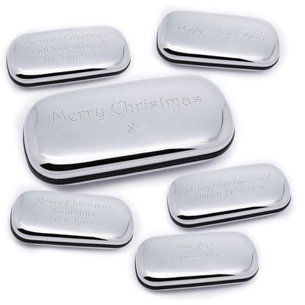Chrome Plated Glasses Case Personalised For Christmas