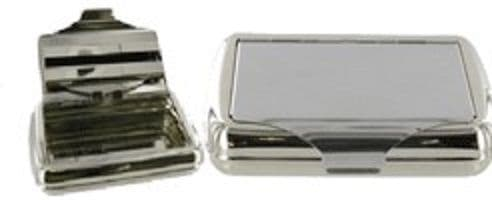Chrome Plated Tobacco Tin Personalised