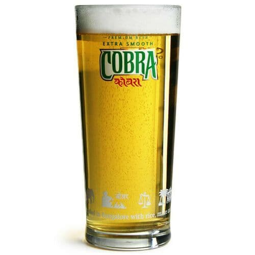 Cobra Extra Smooth 1 Pint Beer Glass Personalised | County Engraving