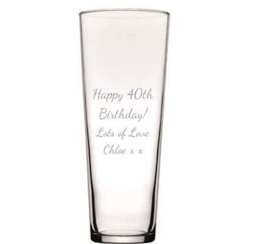 Conical Design Glass Vase Personalised