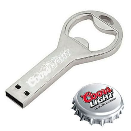 Coors Light Bottle Opener and 2GB USB Flash Storage Drive Personalised