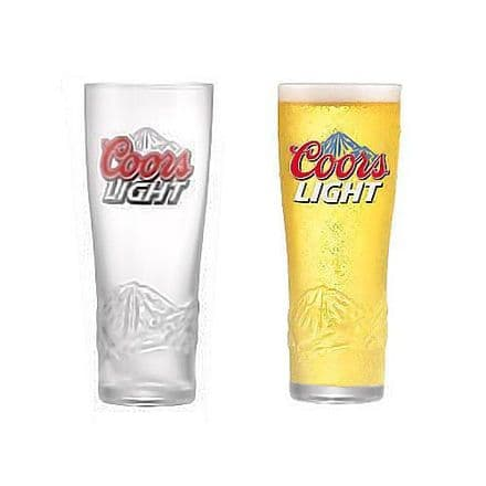 Coors Light Embossed Glass Personalised