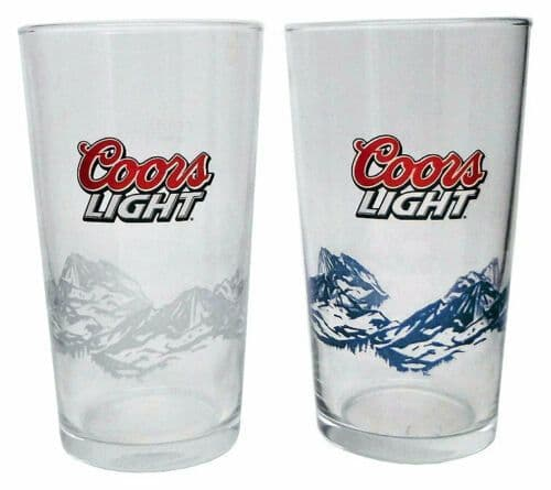 Coors Light Mountain Glass Personalised | County Engraving