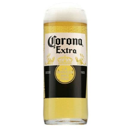 Corona Extra 1 Pint Beer Glass Personalised