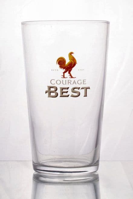 Courage Best Pint Glass Personalised