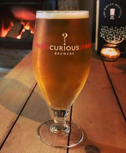 Curious Brewery Stemmed Glass Personalised