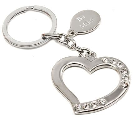 Curved Heart Keyring Personalised