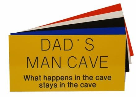 Dads Man Cave Garden Shed Sign Personalised