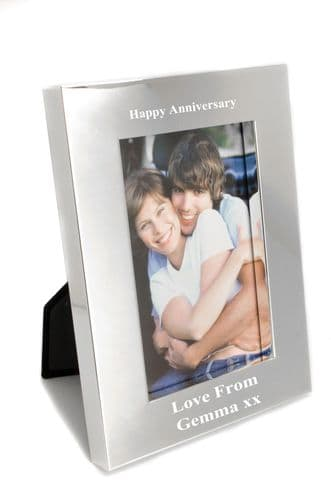 Deep Aperture Silver Plated Photo Frame Personalised