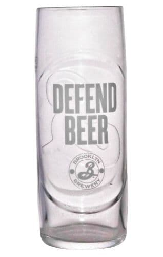Defend Beer from Brooklyn Brewery Glass Personalised