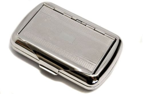 Detailed Chrome Plated Tobacco Tin Personalised