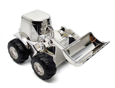Digger Money Box Silver Plated Personalised
