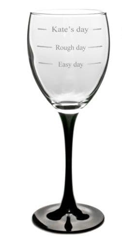 Easy Day  Wine Glass Personalised
