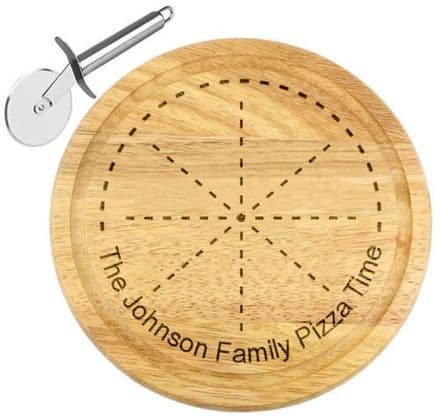 Family Pizza Serving Board Personalised